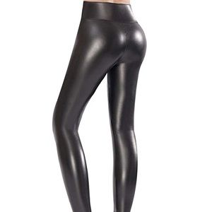 Ginasy Faux Leather High Waisted Leggings XXL